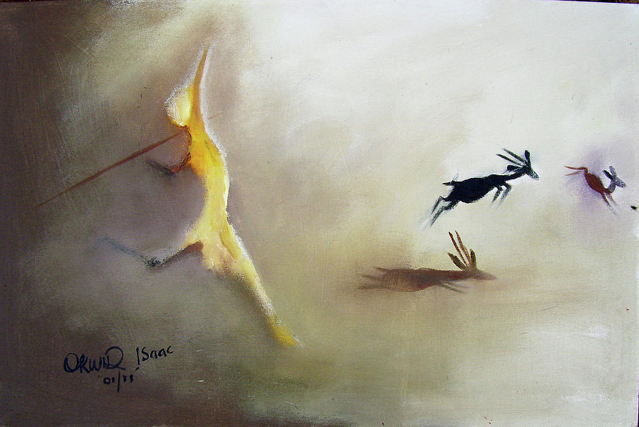 Lanscape Painting - The Escape by Okwir Isaac