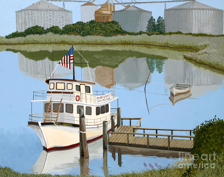 River Scene Painting - The Essence of Tappahannock by Jennifer  Donald