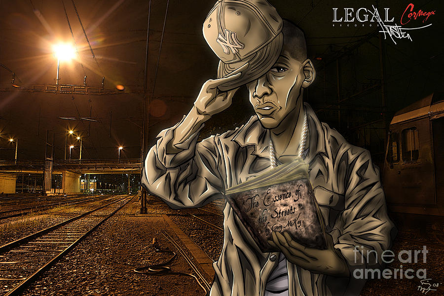 Tuan Drawing - The Essence Of The Streets by Tuan HollaBack
