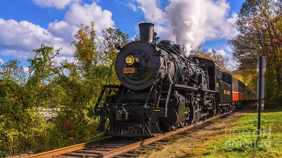 The Essex Steam Train 3025 by New England Photography