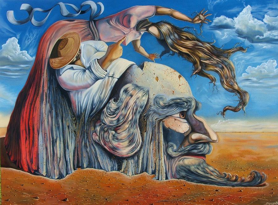 Surrealism Painting - The Eternal Obsession Of Don Quijote by Darwin Leon