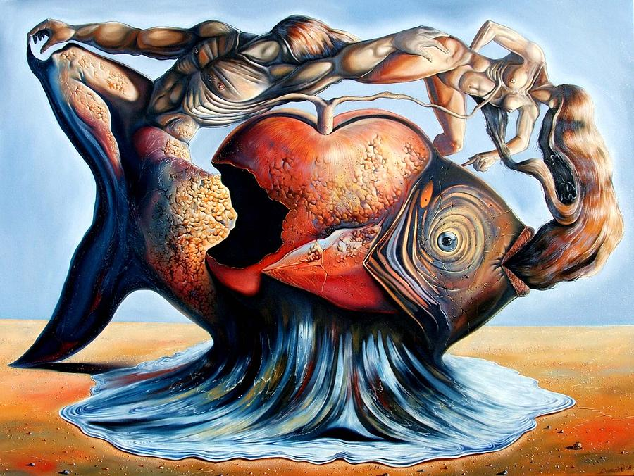 Surrealism Painting - The Eternal Question Of Time by Darwin Leon