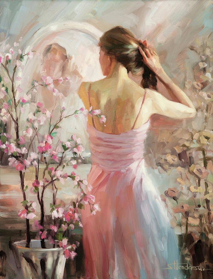 Woman Painting - The Evening Ahead by Steve Henderson