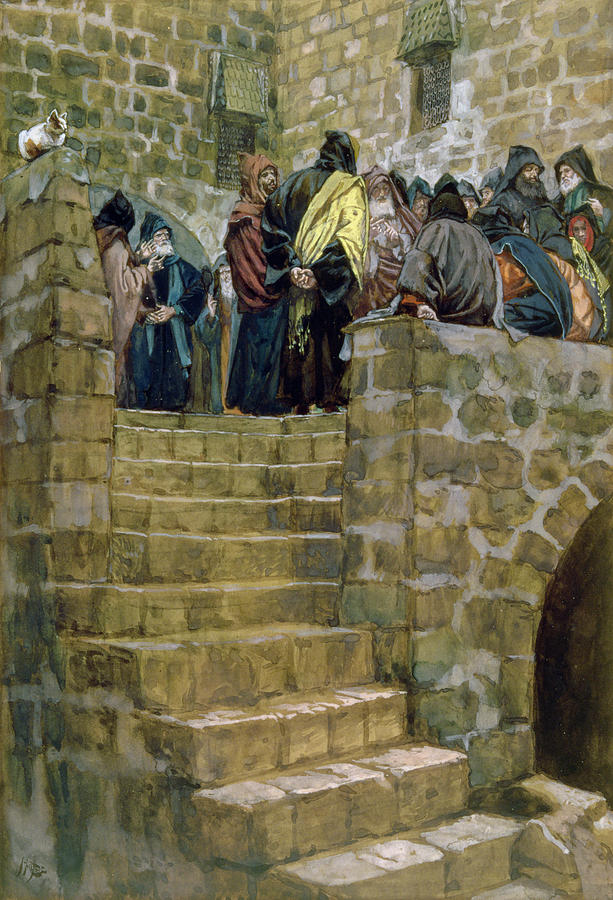 The Painting - The Evil Counsel Of Caiaphas by Tissot