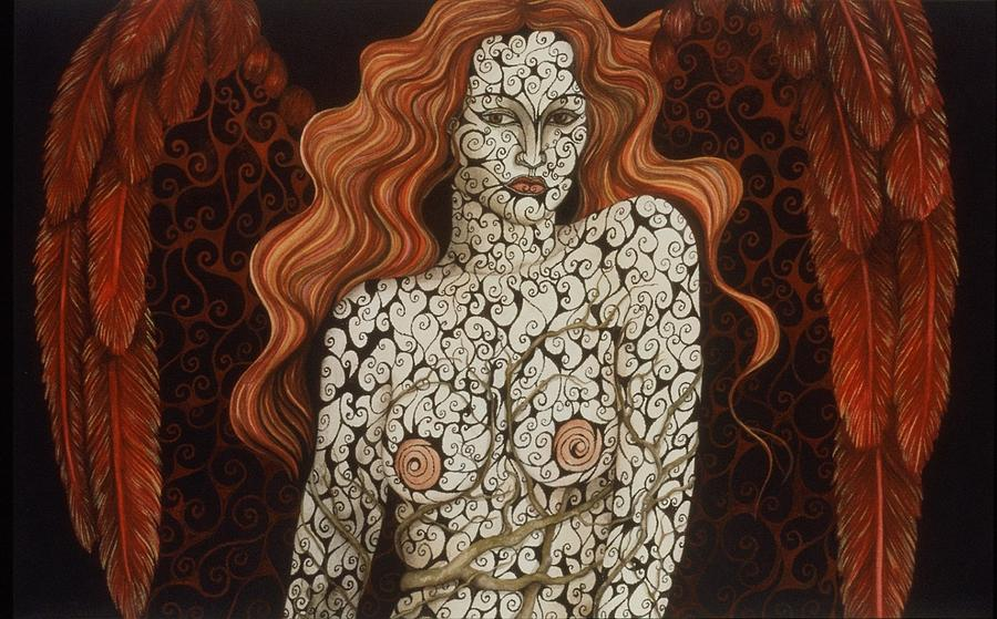 Figurative Painting - The Evil Roots Of Good Manners by Tina Blondell