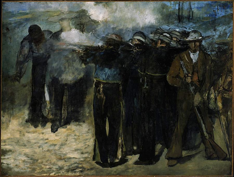 1867 Painting - The Execution Of Emperor Maximilian by Edouard Manet