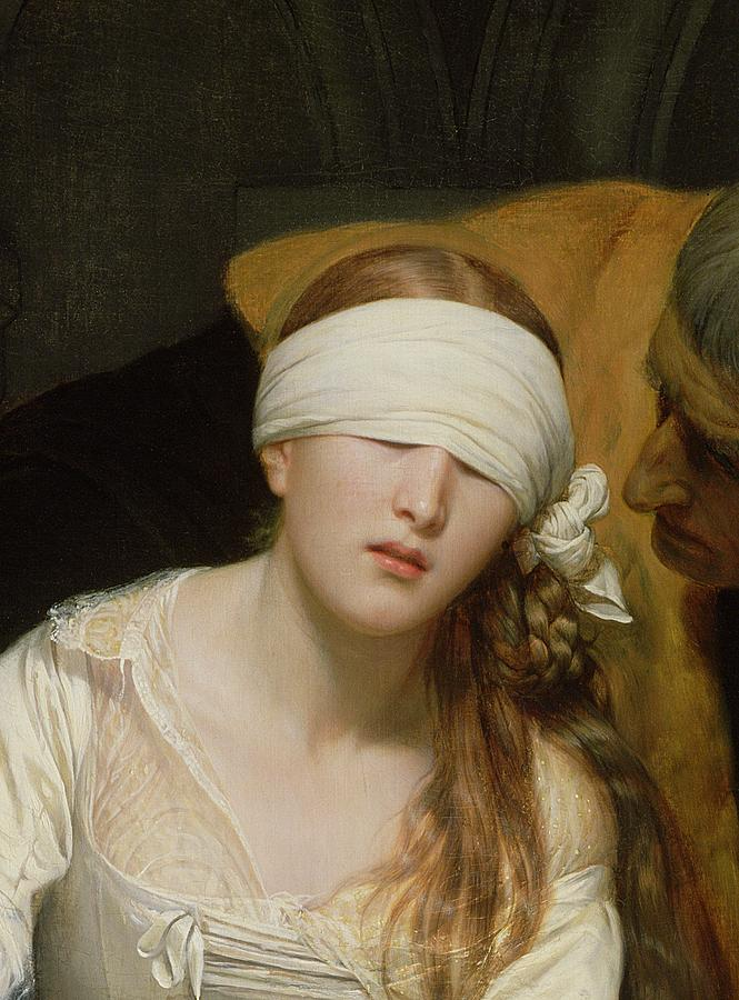 The Painting - The Execution Of Lady Jane Grey by Hippolyte Delaroche