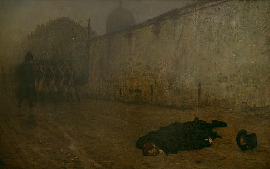 Firing Squad; French; Napoleonic; Death; Dead; Corpse; Execution; Executed; Marshal Ney; Shot; Treason Painting - The Execution Of Marshal Ney by Jean Leon Gerome
