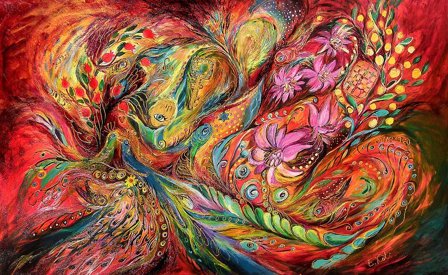 Original Painting - The Exotic Flowers by Elena Kotliarker