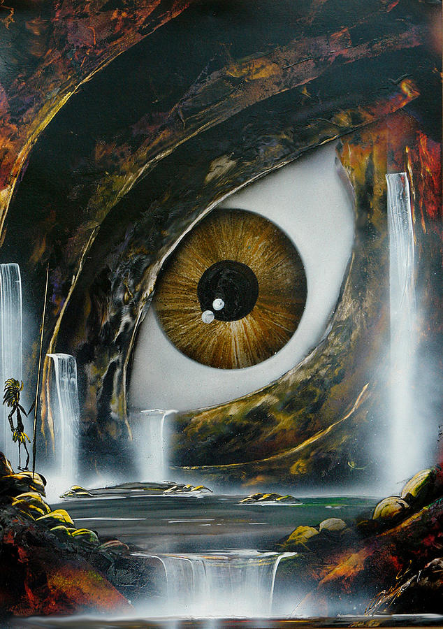 Figurative Painting - The Eye by Angel Ortiz