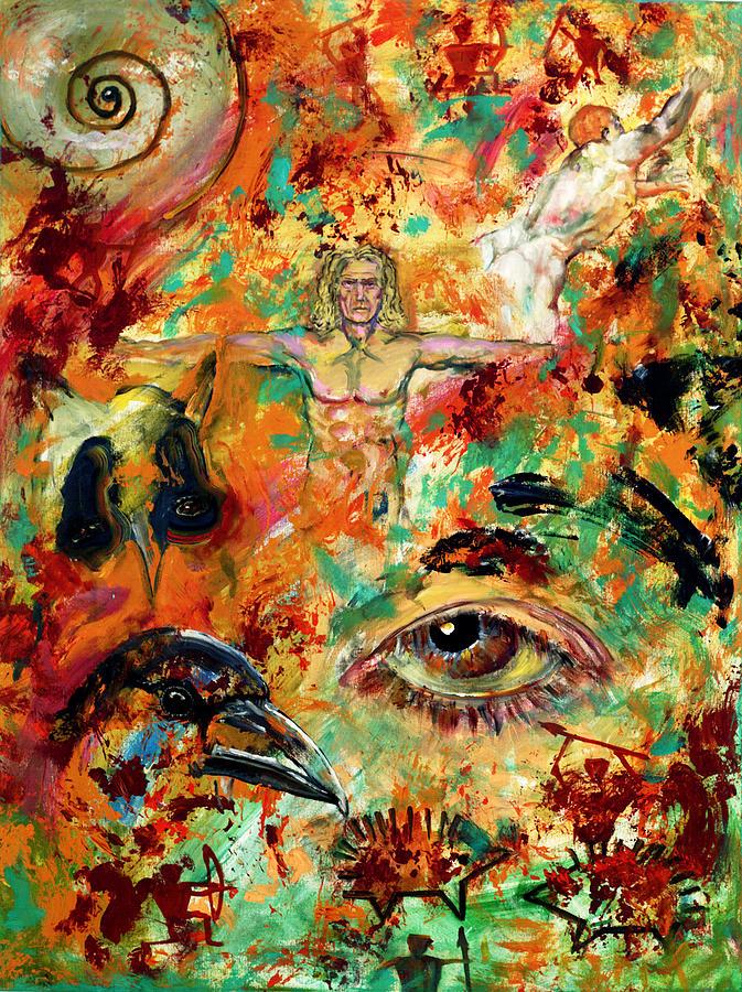 Vitruvian Man Painting - The Eye Of Art by Peter Bonk