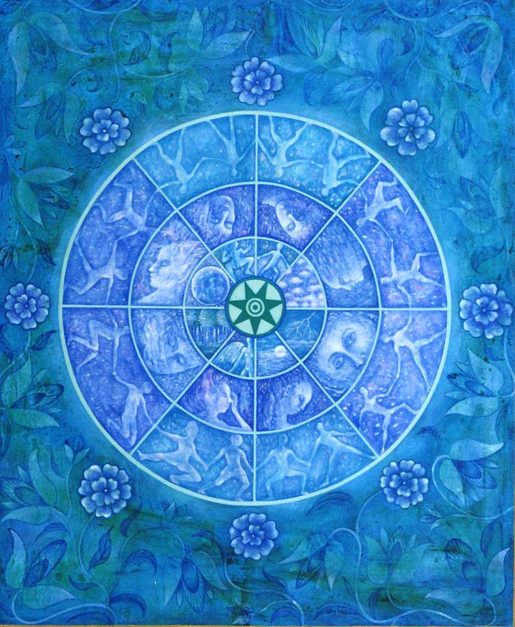 Symbolic Painting - The Eye Of Kanaloha by Hiske Tas Bain