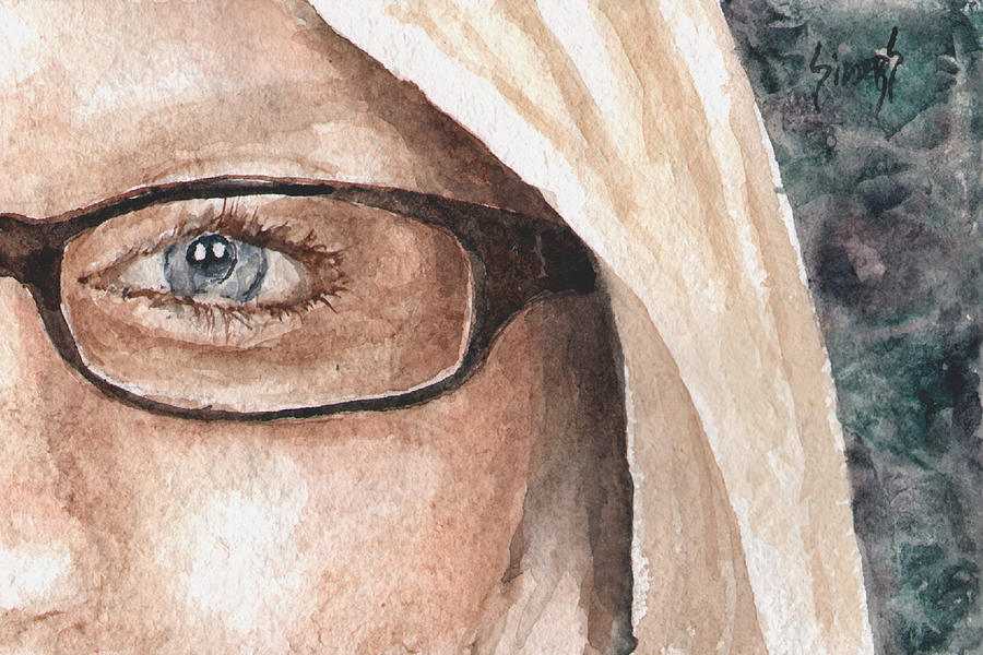 Eyes Painting - The Eyes Have It - Dustie by Sam Sidders