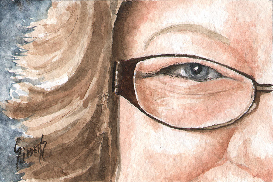 Eyes Painting - The Eyes Have It - Emma by Sam Sidders