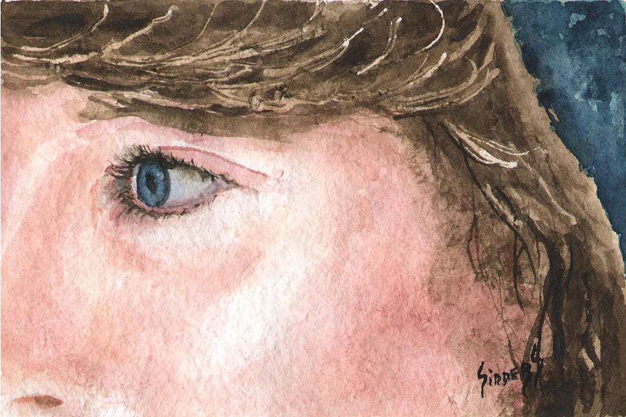 Franci Painting - The Eyes Have It - Franci by Sam Sidders