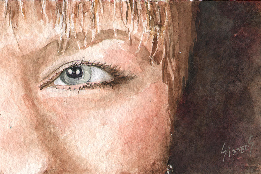 Eyes Painting - The Eyes Have It - Shelly by Sam Sidders