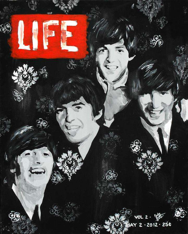 The Beatles Painting - The Fab Four by Carly Jaye Smith