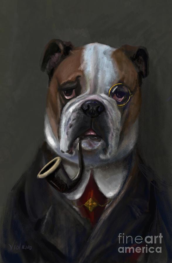 Bulldog Digital Art - The Fabulous Bentley by Stella Violano
