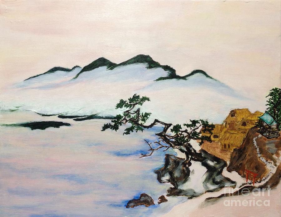 Japanese Artist Painting - The Fading Spirit Of Chikanobu Awakened By Shintoism by Sawako Utsumi