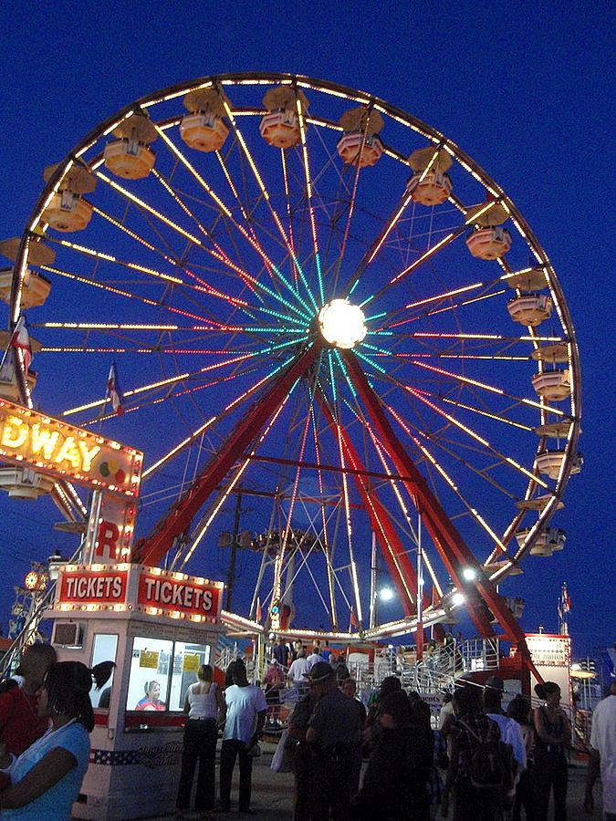 Wittenberg Photograph - The Fair At Night by Beth Akerman