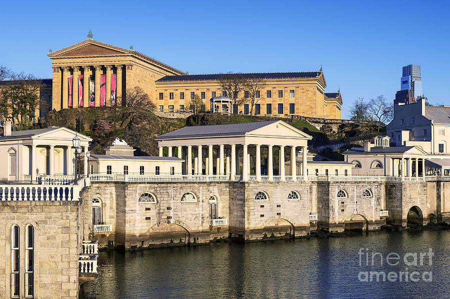 Art Museum Photograph - The Fairmount Water Works And Art Museum by John Greim