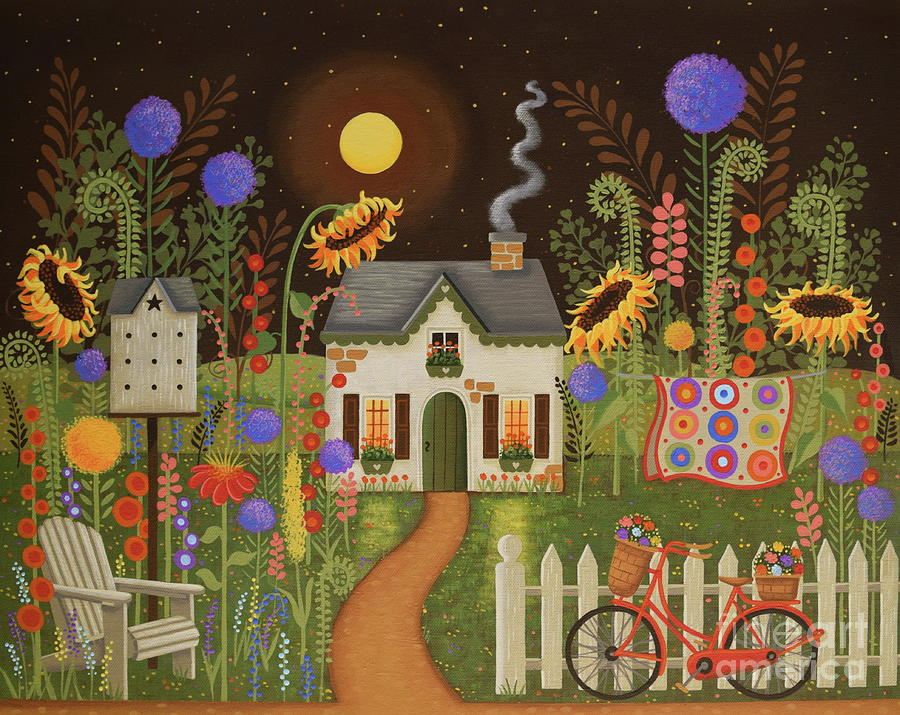 Fairy Garden Painting by Mindy Newman