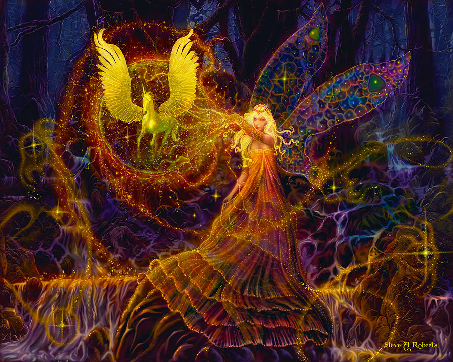 Fairy Painting - The Fairy Spell by Steve Roberts