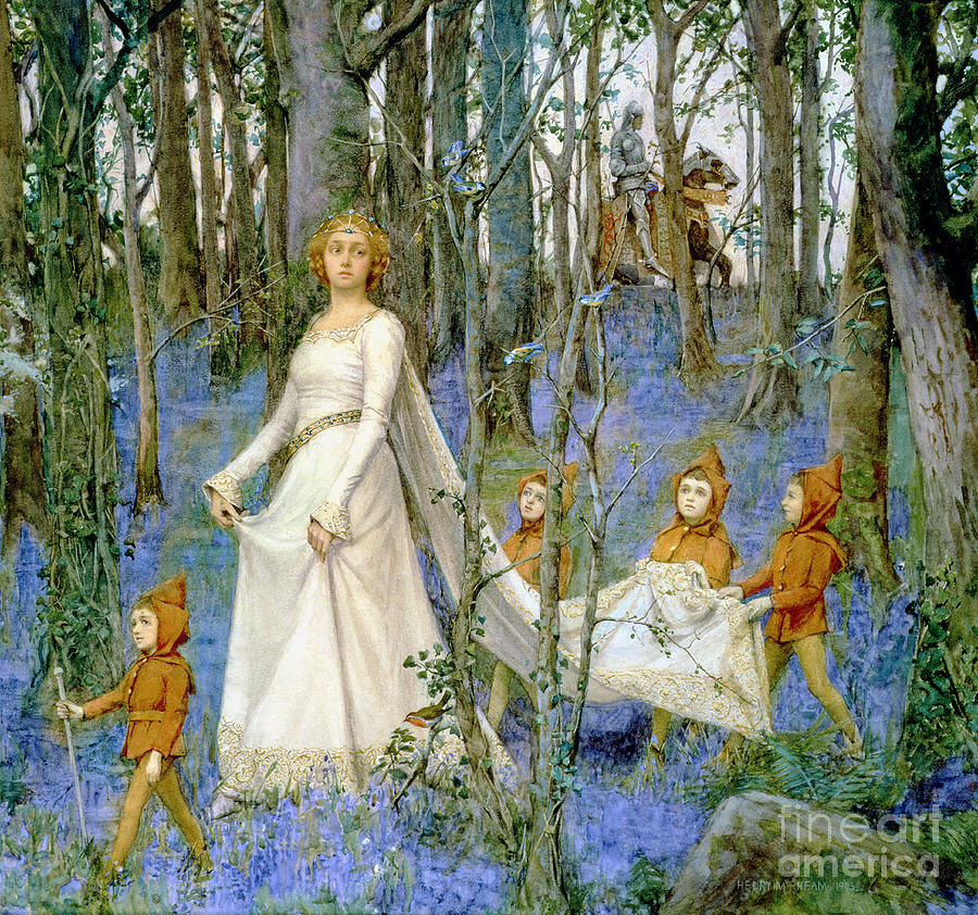 The Painting - The Fairy Wood by Henry Meynell Rheam