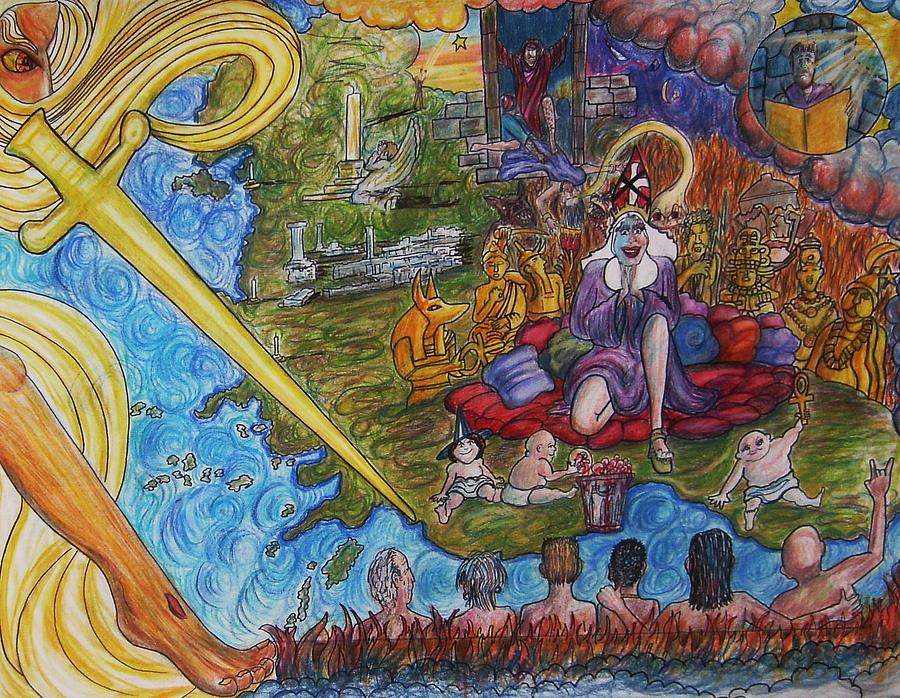 Revelation Drawing - The Fall And Rise Of Jezebel by Richard  Hubal