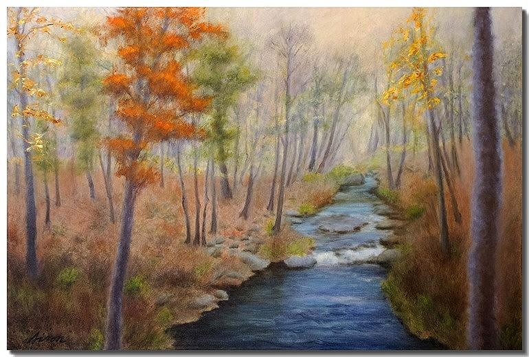 Fall Foliage Painting - The Fall of Autumn by Liron Sissman