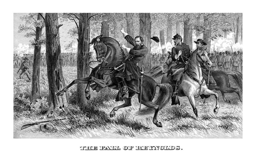 The Fall Of Reynolds - Civil War Painting