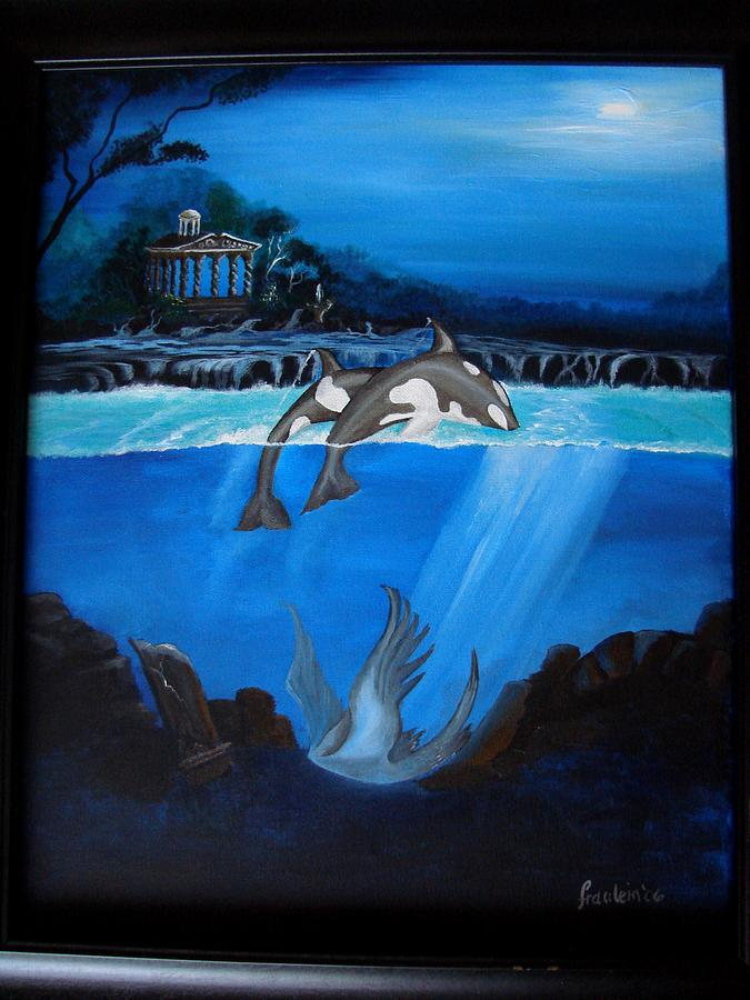 Seascape Painting - The Fallen by Glory Fraulein Wolfe