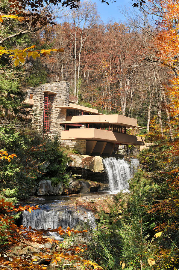 Simplicity Photograph - The Fallingwater by Edwin Verin
