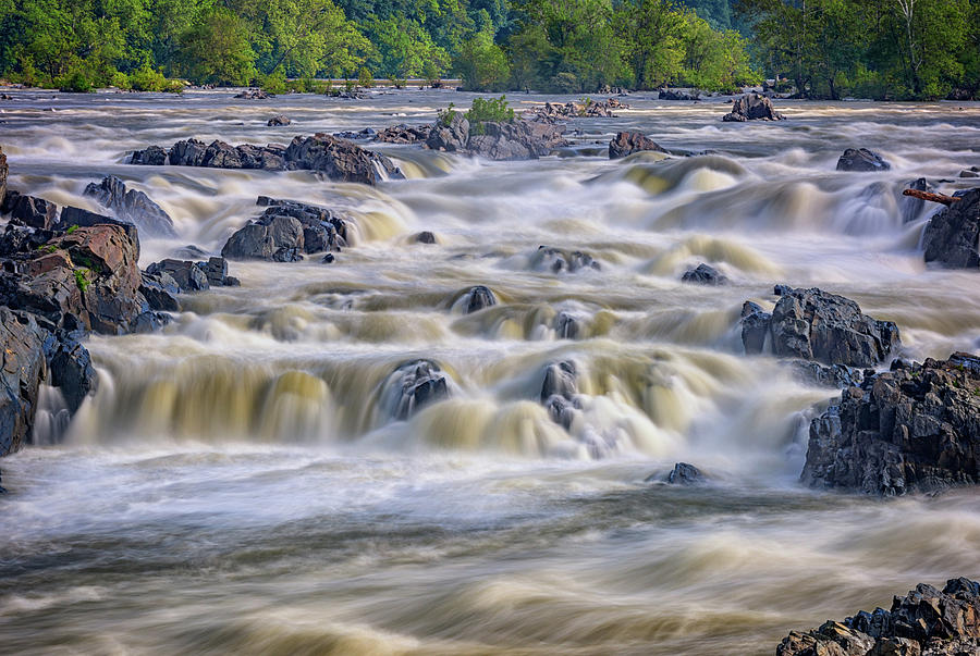 The Falls At Great Falls Park Photograph