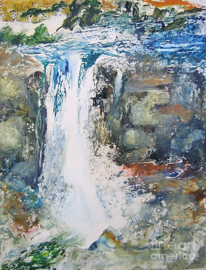 Abstract Paintings Painting - The Falls by John Nussbaum