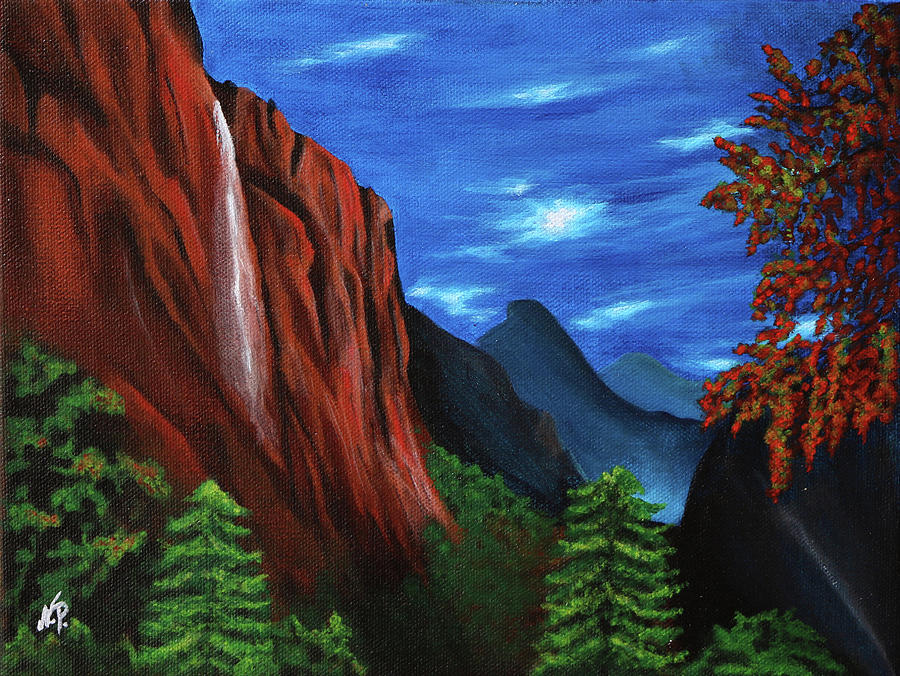 Nature Painting - Night Fall by Nicole Paquette