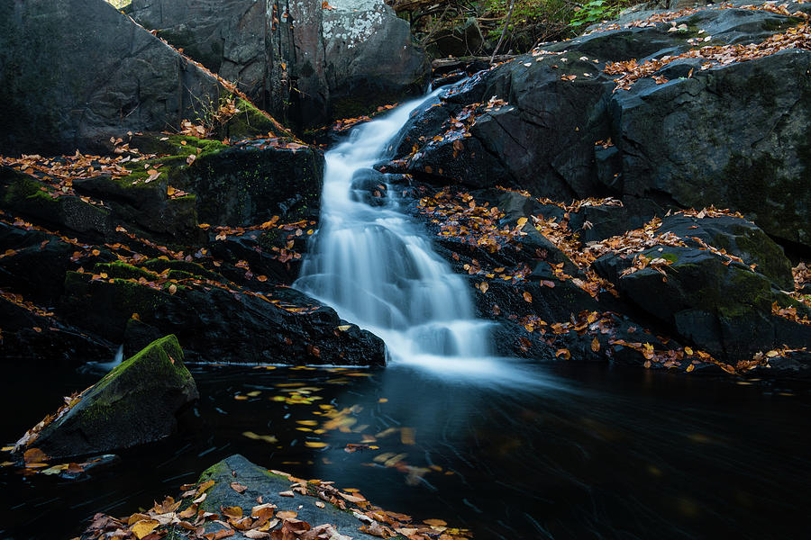 Waterfall Photograph - The Falls Of Black Creek In Autumn II by Jeff Severson