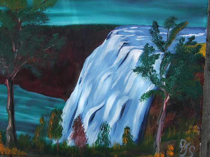 The Falls Painting by Paul james  Schumann