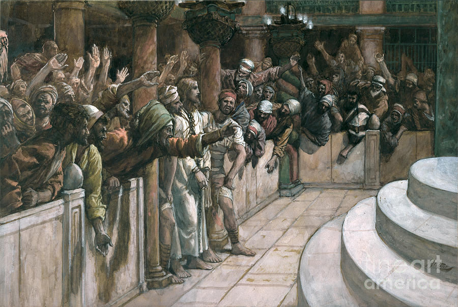 The Painting - The False Witness by Tissot