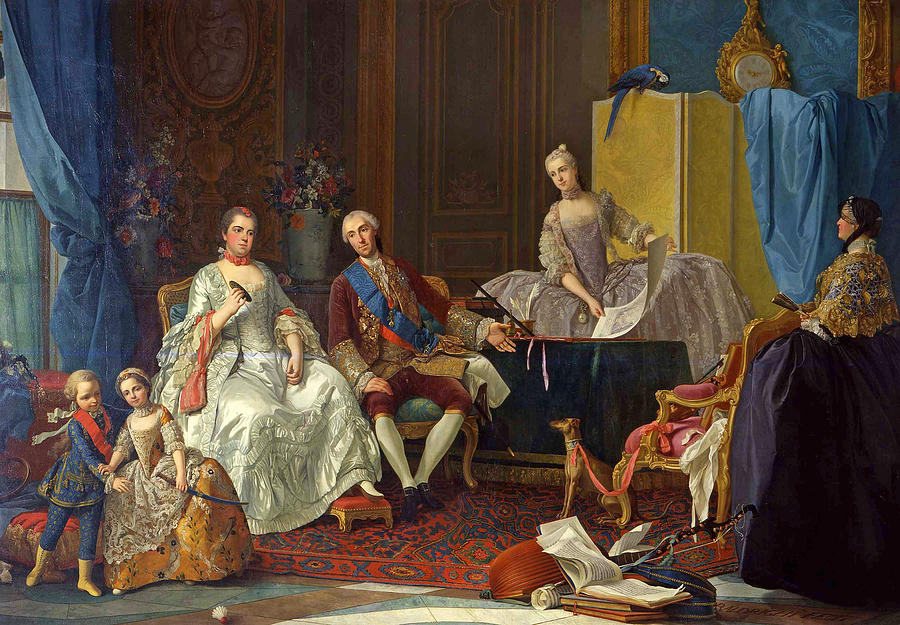 Canvas Prints Painting - The Family Of Philip Of Parma  by Giuseppe Baldrighi