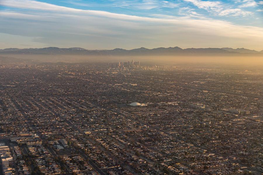 Los Angeles Photograph - The Impressive City of Angels - Los Angeles California U S A - Urban Sprawl and Smog  by Georgia Mizuleva