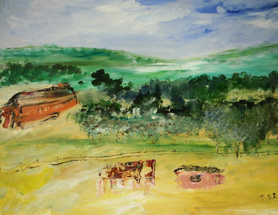 Landscape Painting - The Farm by Edward Wolverton
