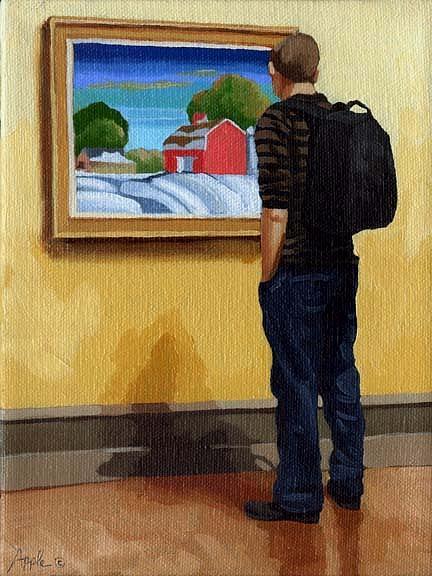 Man Painting - The Farm by Linda Apple
