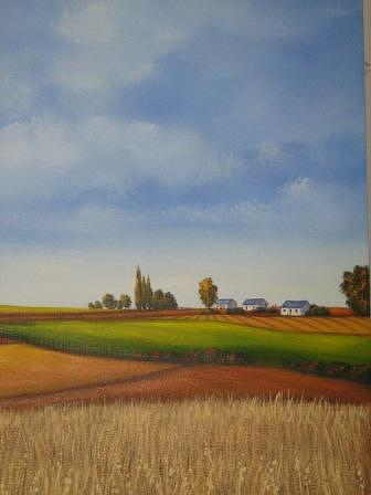 Landscape Painting - The Farm by Marius Prinsloo