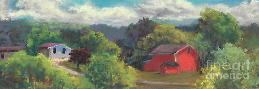 Rural Landscape Painting - The Farm To The East by Terri  Meyer