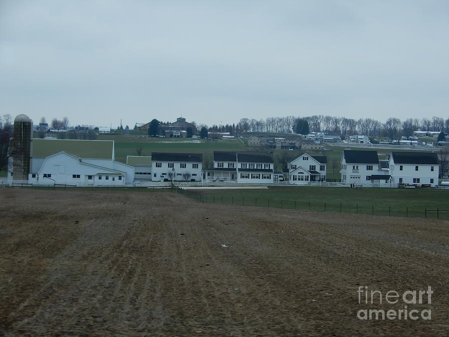 Amish Photograph - The Farmland Has Been Tilled by Christine Clark
