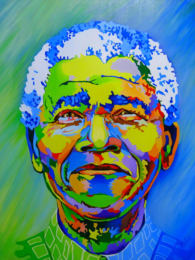 The Father Of The Rainbow Nation Painting By Netsa Lemma