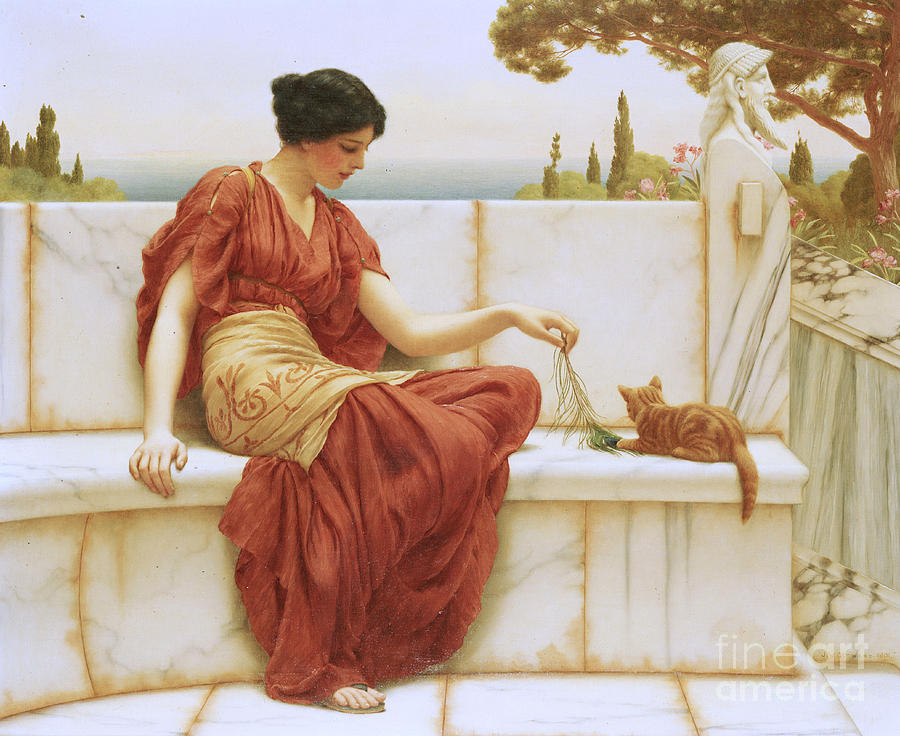 The Favorite Painting - The Favorite by John William Godward
