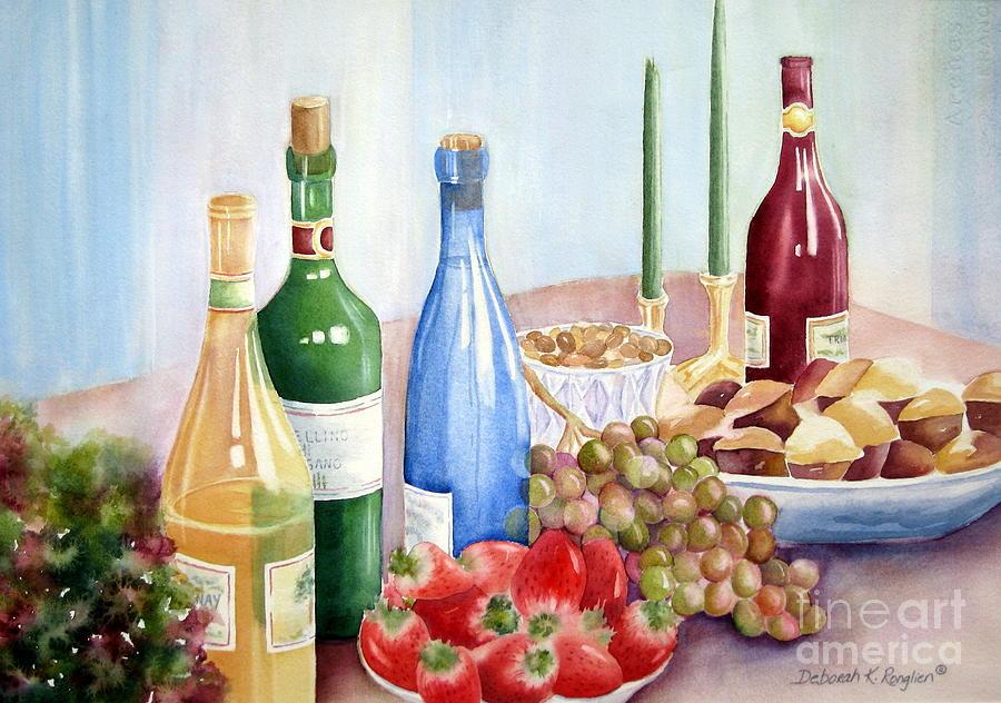 Feast Painting - The Feast by Deborah Ronglien