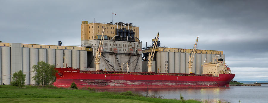 Big Ship Photograph - The Federal Yukon by Linda Ryma